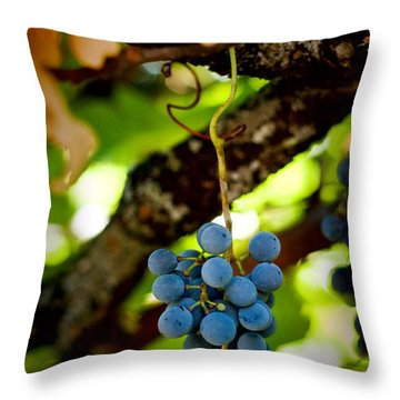 Grape Cluster Throw Pillow