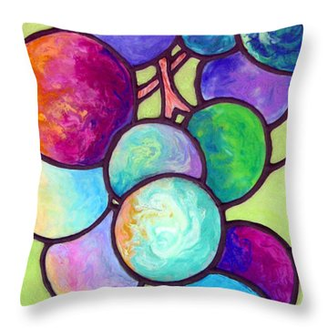Throw Pillow featuring the painting Grape De Chine by Sandi Whetzel