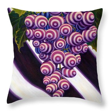 Grape De Menthe Throw Pillow