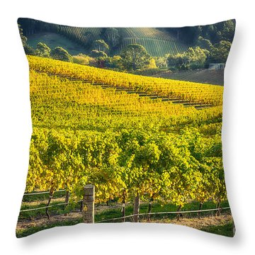 Grape Expectations Throw Pillow