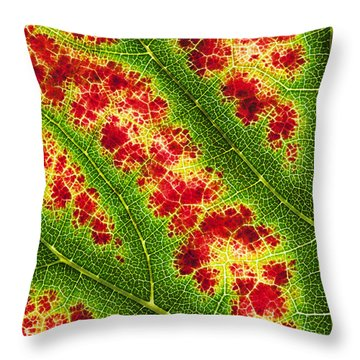Grape Leaf Pattern Throw Pillow