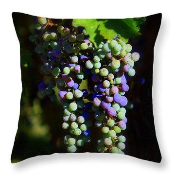 Grape Pre-vino Throw Pillow by Patrick Witz