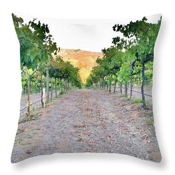 Grape Vines Throw Pillow