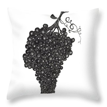 Grapefull Greetings Throw Pillow