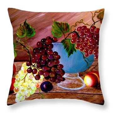 Grapefully Your's Throw Pillow by Fram Cama