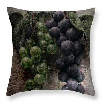 Throw Pillow featuring the photograph Off The Vine by Aaron Berg