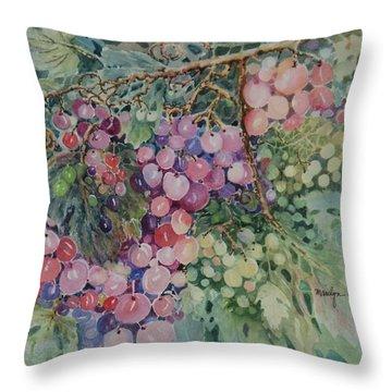 Grapes Galore Throw Pillow
