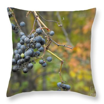 Grapes Left Throw Pillow