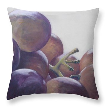 Grapes No.5 Throw Pillow