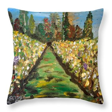 Grapes Of Tuscany Throw Pillow