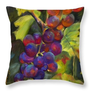 Grapevine Throw Pillow by Chris Brandley