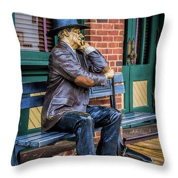 Grapevine Cowboy Throw Pillow