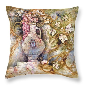 Grapevine Throw Pillow by Michoel Muchnik