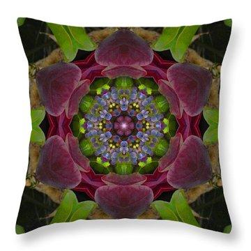 Grapevine Portal Mandala Throw Pillow