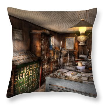 Graphic Artist - Upper And Lower Case  Throw Pillow by Mike Savad