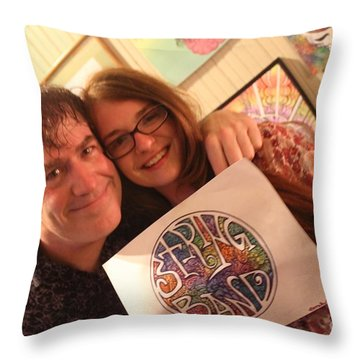 Graphic Throw Pillow by Jesse Ciazza