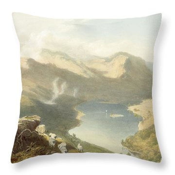 Grasmere From Langdale Fell, From The Throw Pillow by James Baker Pyne