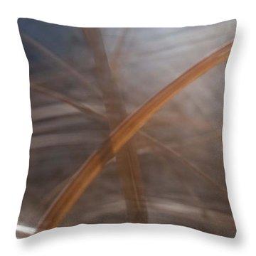 Grass - Abstract 1 Throw Pillow