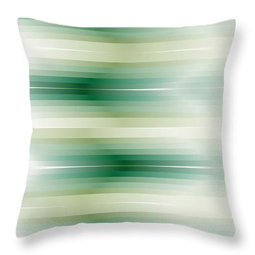 Throw Pillow featuring the digital art Grass Fade Stripe by Kevin McLaughlin
