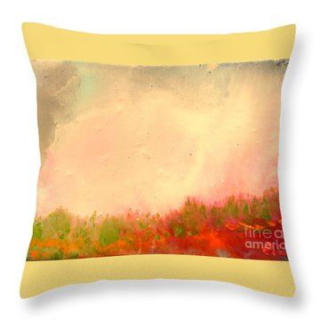 Grass Fire Throw Pillow