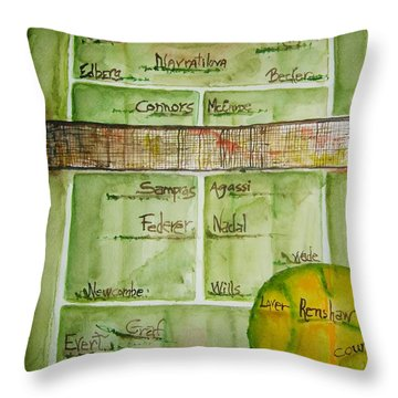 Grass Greats Throw Pillow