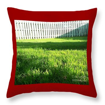 Grass Shadows Throw Pillow