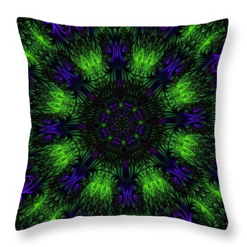 Grass Views Kaleidoscope Throw Pillow