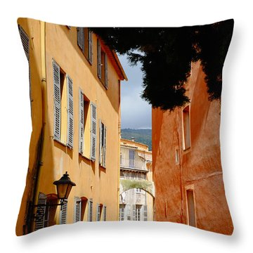 Grasse Alley France Throw Pillow