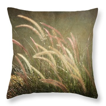 Grasses In Beauty Throw Pillow