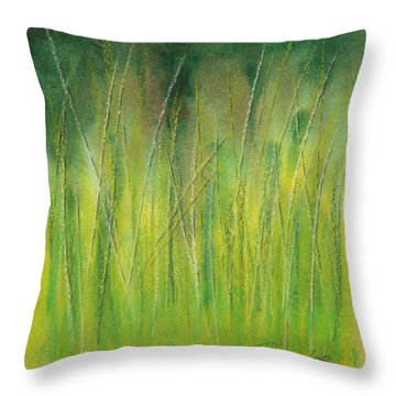 Grasses Study Throw Pillow