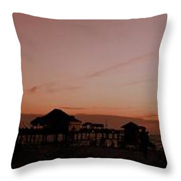 Grassy After Glow At Pier 60 Panorama Throw Pillow
