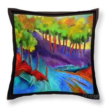 Grate Mountain Throw Pillow by Elizabeth Fontaine-Barr