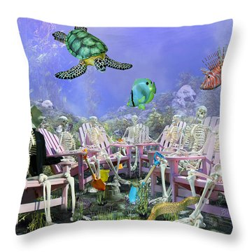 Grateful Friends Throw Pillow by Betsy Knapp