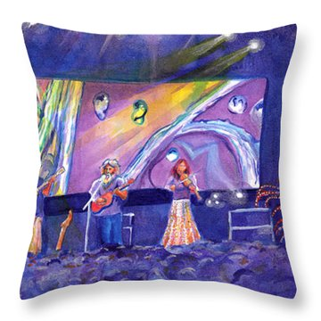 Grateful Grass Keller Williams Billy Nershi Sci Arise Fest Throw Pillow