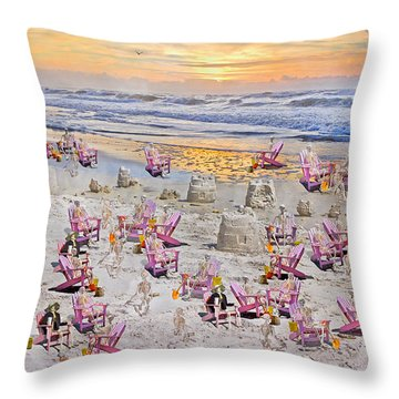 Grateful Holiday Throw Pillow by Betsy Knapp