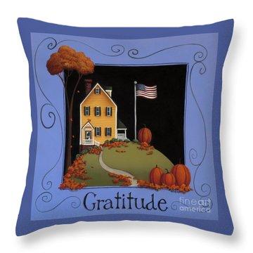 Gratitude Throw Pillow by Catherine Holman