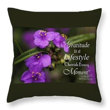 Gratitude Is A Lifestyle Throw Pillow