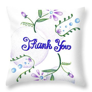 Gratitude Throw Pillow by Keiko Katsuta