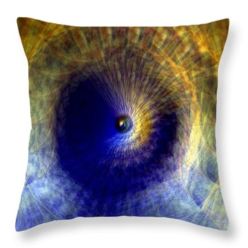 Gravitation Throw Pillow by Martina  Rathgens