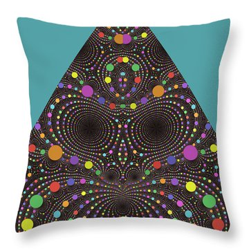 Throw Pillow featuring the digital art Gravity And Magnetism by Mark Greenberg