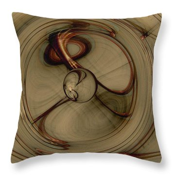 Gravity Wells Throw Pillow