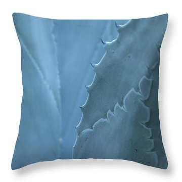 Gray-blue Patterns Throw Pillow