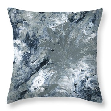 Gray Color Of Energy Throw Pillow by Ania Milo