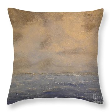 Throw Pillow featuring the painting Gray Dawn by Lori Jacobus-Crawford