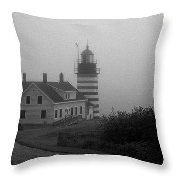 Gray Day In Maine Throw Pillow by Amanda Kiplinger