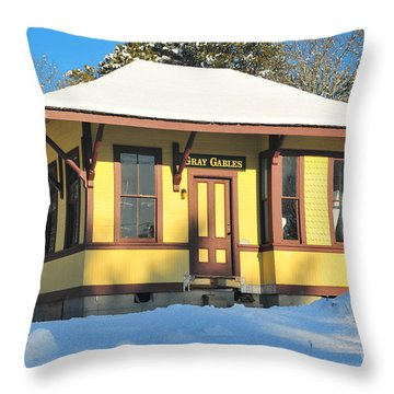 Gray Gables  Throw Pillow by Catherine Reusch Daley