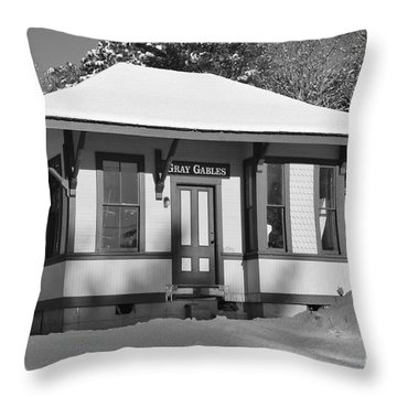 Gray Gables Train Station Throw Pillow by Catherine Reusch  Daley