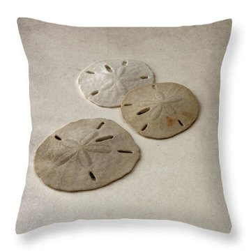 Gray Taupe And Beige Sand Dollars Throw Pillow