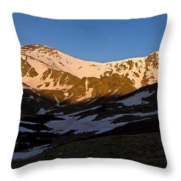 Grays Peak And Torreys Peak Panorama Throw Pillow by Benjamin Reed