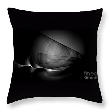 Graystudy Throw Pillow by Peter R Nicholls